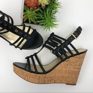 NWOB Ivanka Trump Leather Wedge Sandals | 9.5